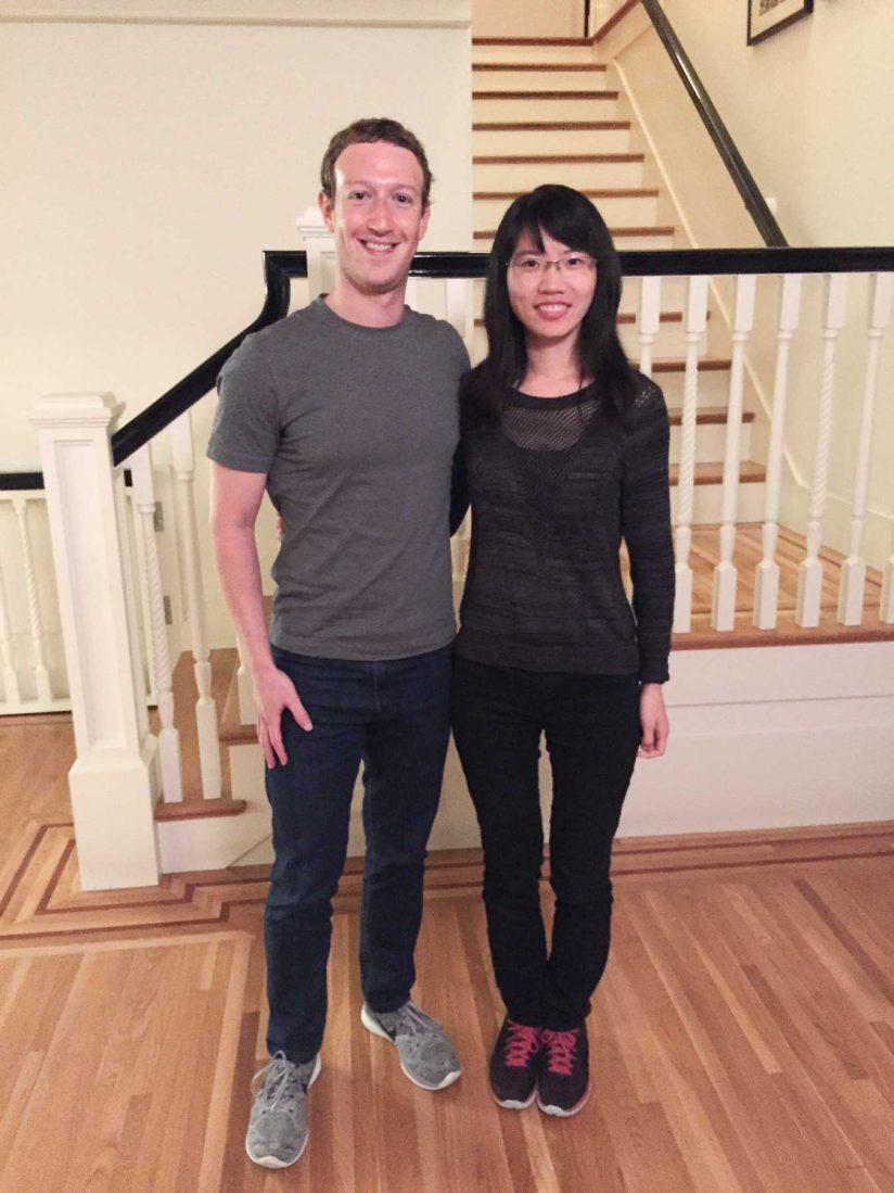 Mark Zuckerberg and Qinqin Zhu