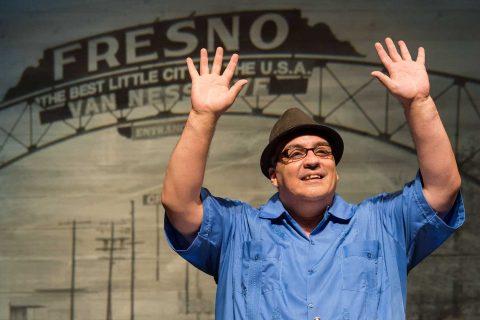 Luis Alfaro onstage at Kirk Douglas Theatre