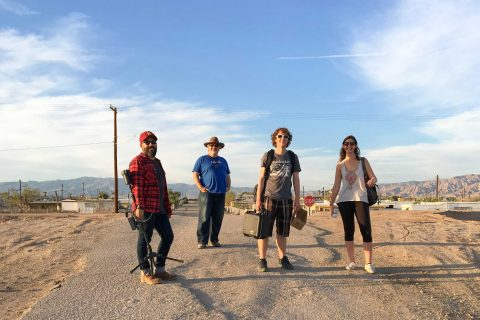Robert Hernandez and VR students at Salton Sea