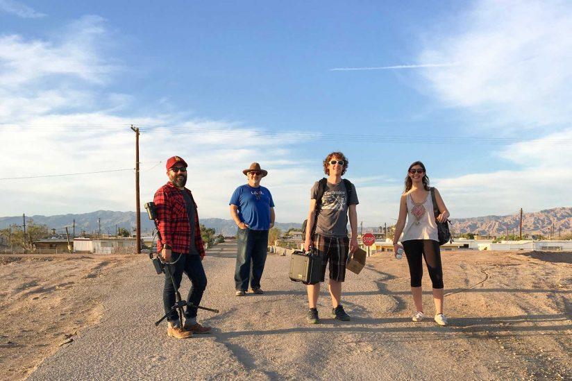 Robert Hernandez and VR students at Salton Sea