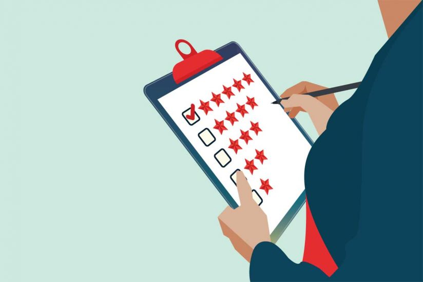 Illustration of five star ratings