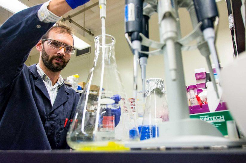 Johannes Van Dijk in lab