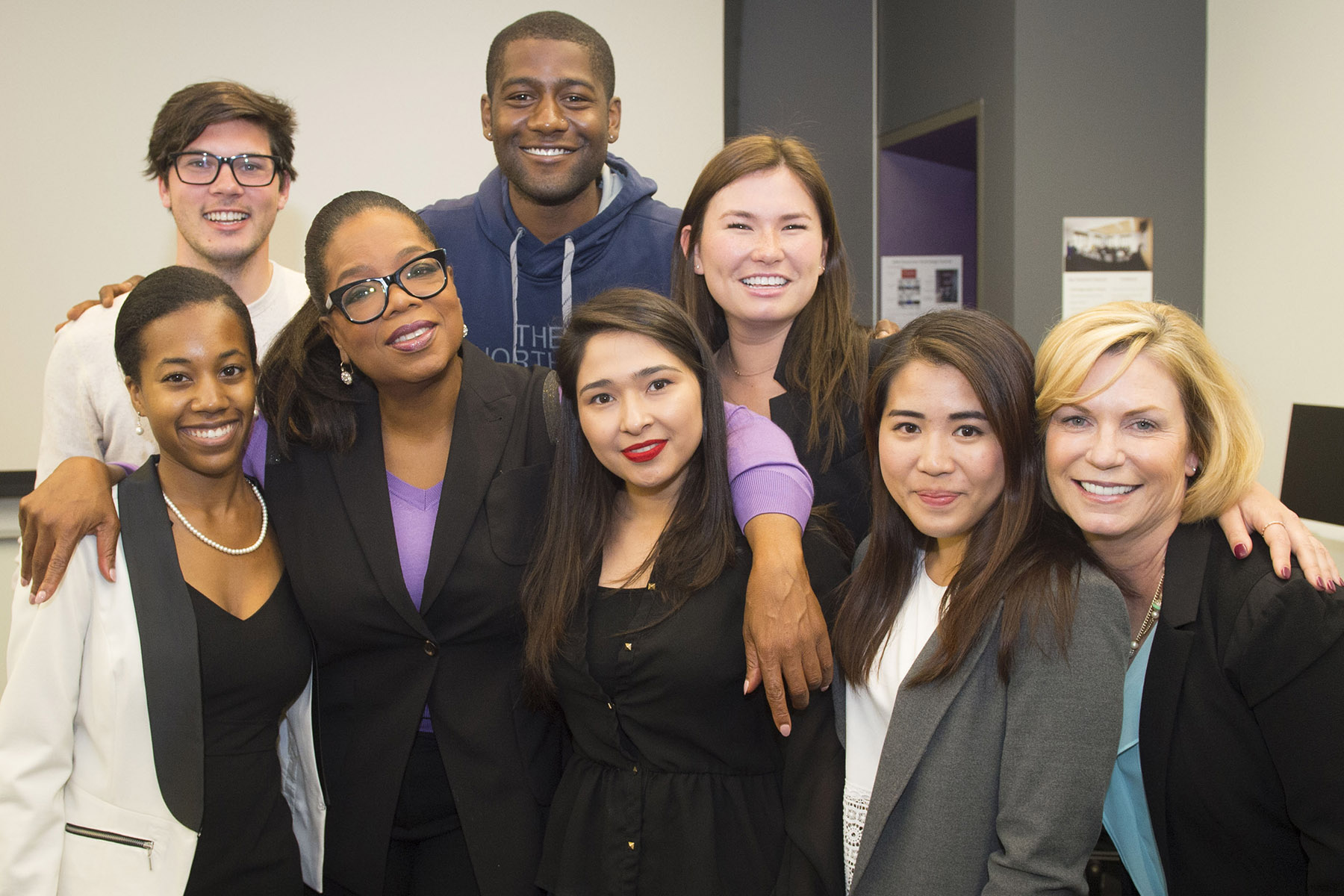 Oprah Winfrey with Annenberg students