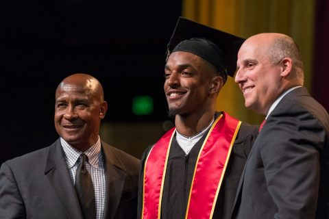 Jalen Greene at commencement