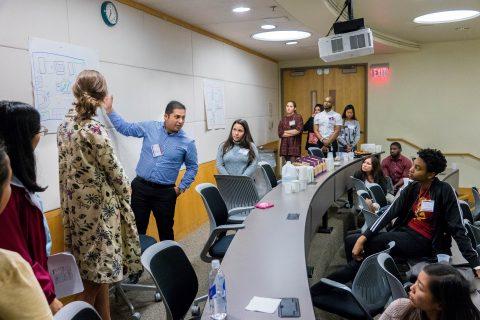 group planning at diversity workshop