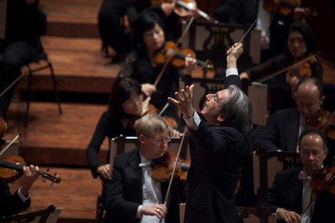 Michael Tilson Thomas conducting the San Francisco Symphony