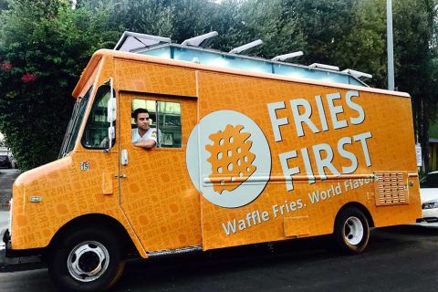 Max Novak in Fries First truck