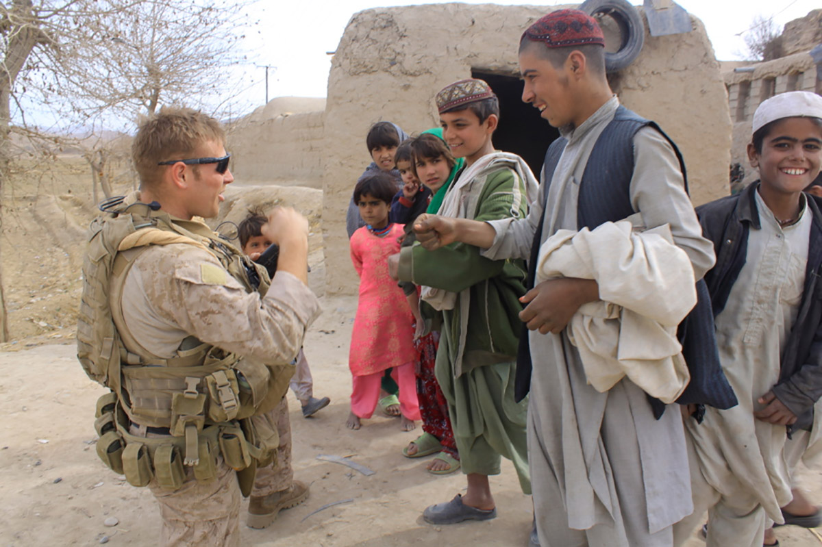 Patrick O'Neill in Afghanistan