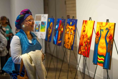 Gallery opening for black history month art show
