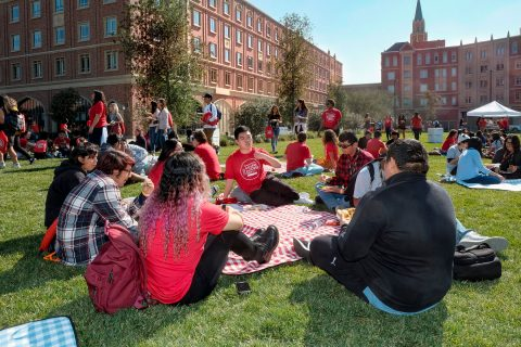 College Access Day participants on the great lawn