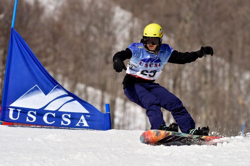 Erica Leung snowboarding