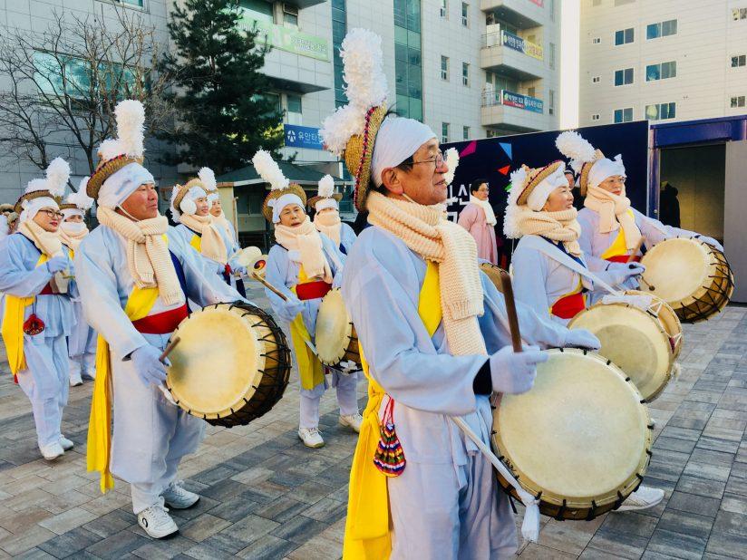 drummers at Gangneung Danjoe Festival