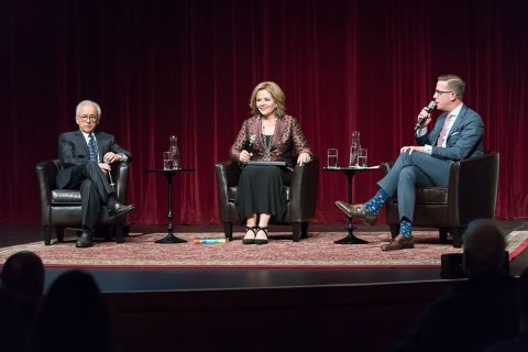 Antonio Damasio, Renée Fleming and Christopher Koelsch