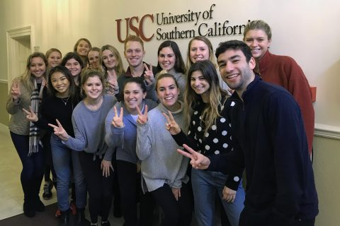 USC Annenberg students visit the new USC London office