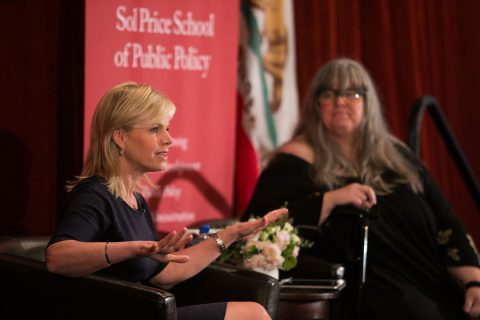 Gretchen Carlson, Fox News former anchor, speaks at Price School