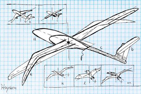 plane designs sketch