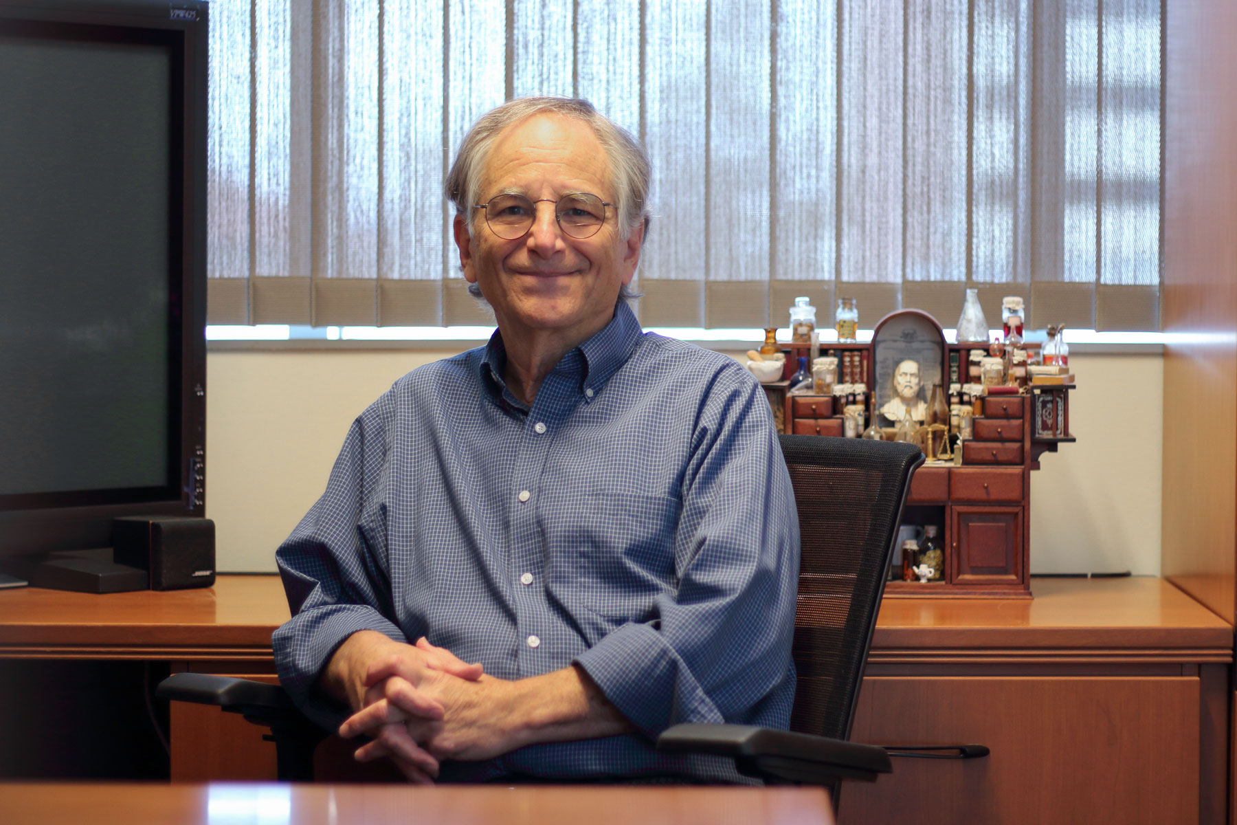 Len Adleman in his office at USC