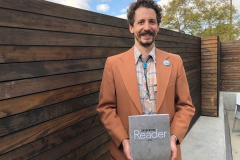 Dan Johnson with the Skid Row Reader