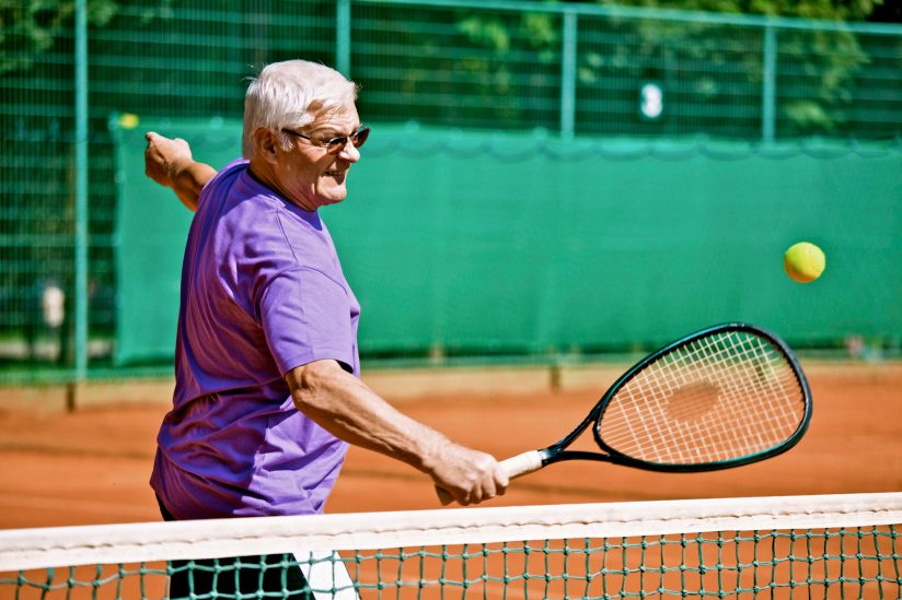 Active aging senior tennis