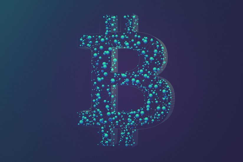 Bitcoin graphic with Bitcoin symbol