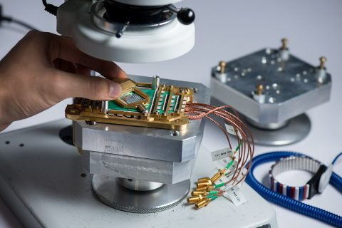 D-Wave chip, the tiny machinery used to drive the latest quantum computing news
