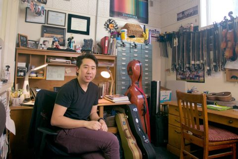 Jim Wang in his office