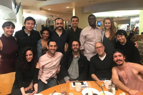 Tony Kushner David Warshofsky 2018 MFA actors group photo