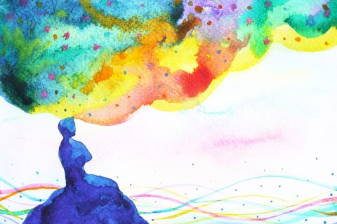 education expands the mind colorful concept illustration