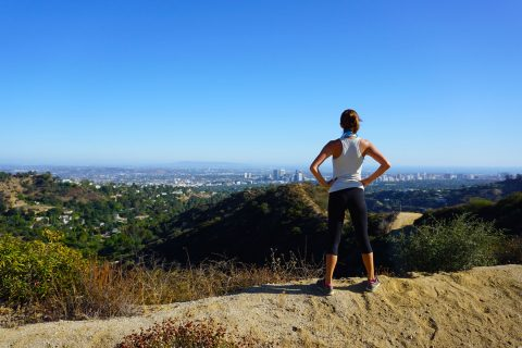 Urban living: hiking in nature above the city