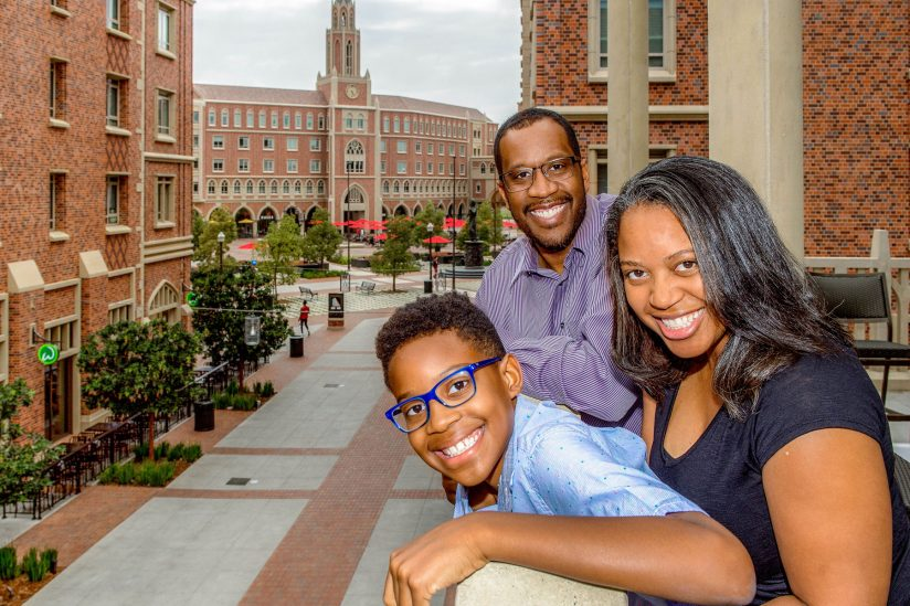 Leaks family faculty in residence at USC Village