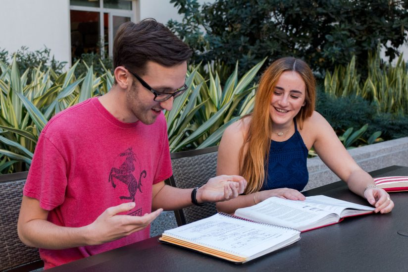 Benefits of sleep for college students: Healthy students studying during daytime