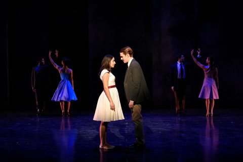 Theodosia Roussos and Tim Frangos as Maria and Tony in West Side Story