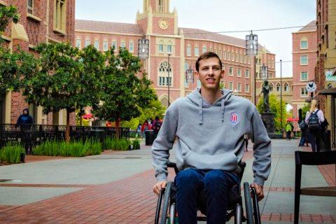 Swim With Mike: Zach Pickett portrait at USC Village