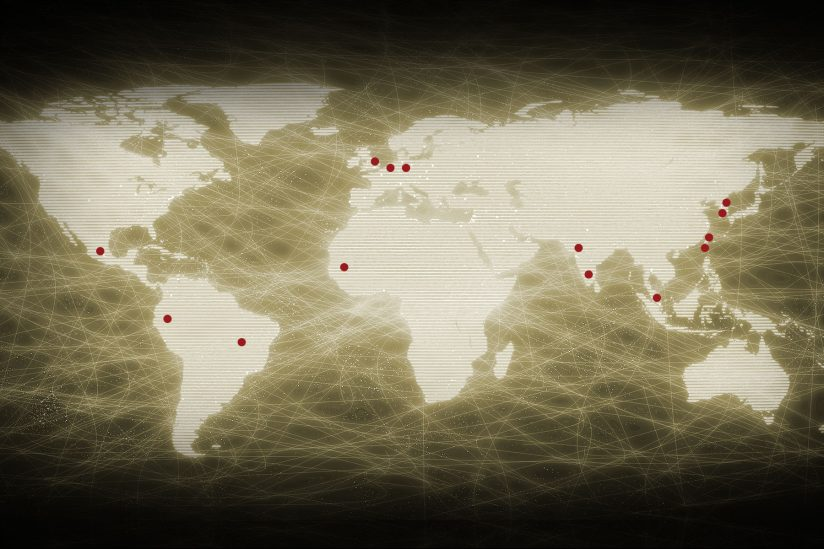 USC Fulbright Student Grant recipients: World map showing destinations for USC Fulbright Scholars