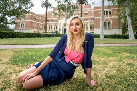Portrait of Josie Andrews, one of the two 2018 USC salutatorians