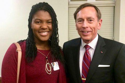 Remaya Campbell and Gen David Petraeus