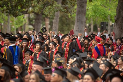 graduates at 2018 commencement ceremony