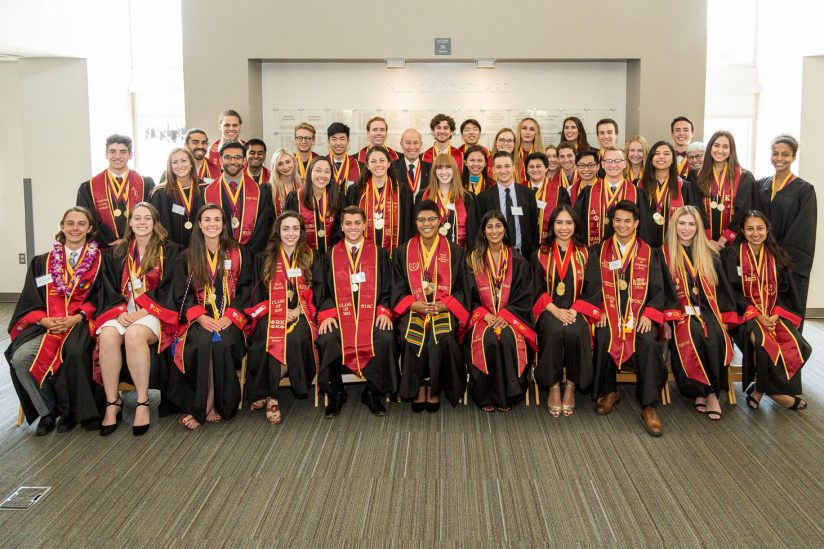 Top USC scholars honored at the 2018 Wall of Scholars reception