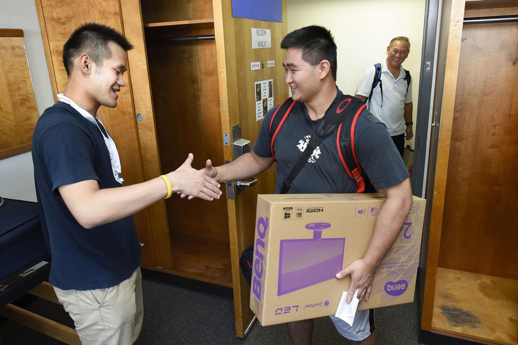 Jason Zesheng Chen meets roommate Brandan Sakka