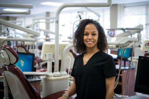 First-gen dental hygiene graduate Melissa Gerald