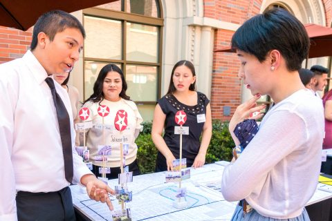 East LA high school students public planning at USC