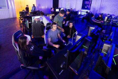 Espoprts in Los Angeles: E-Coliseum gamers enjoying Fortnite tournament