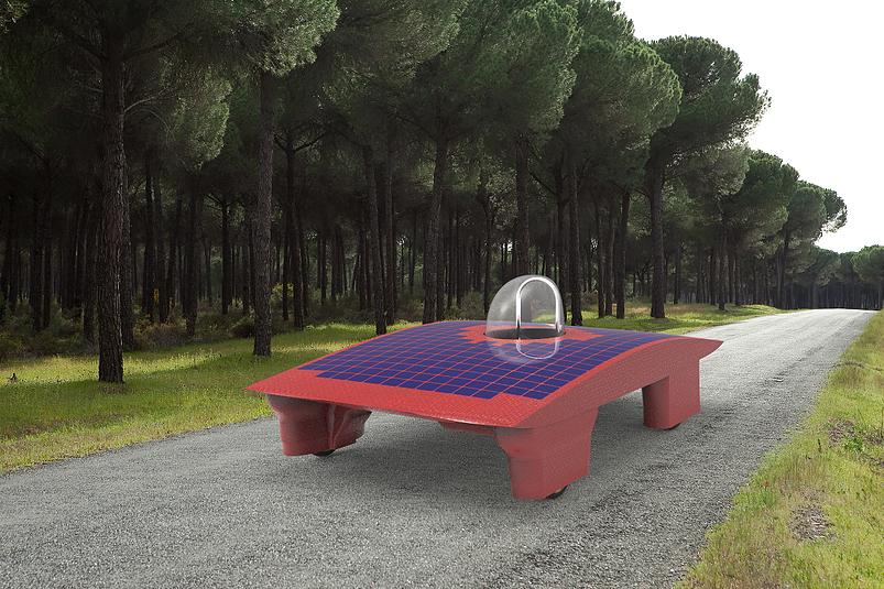 rendering of USC solar car