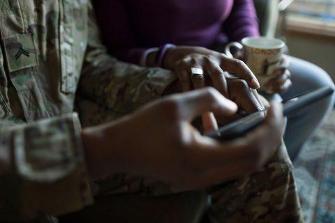 military family uses AI