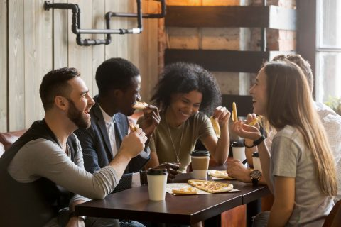 End sexual harassment: People at a table