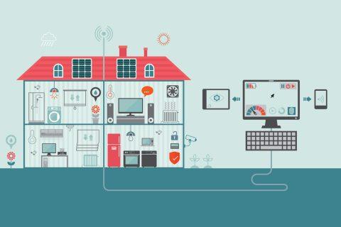 biosensor technology in smart building illustration