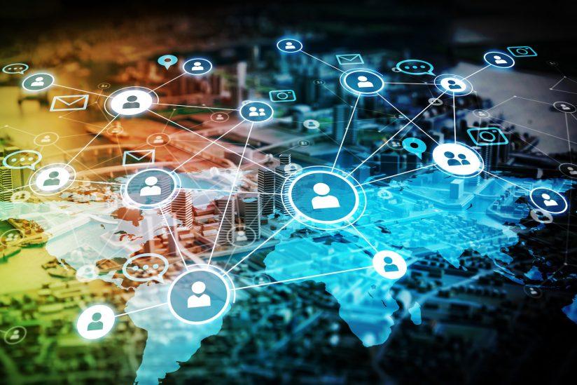 illustration concept viral network