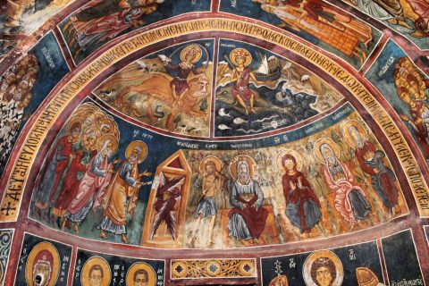 Byzantine Murals in Orthodox Greek Churches preserved