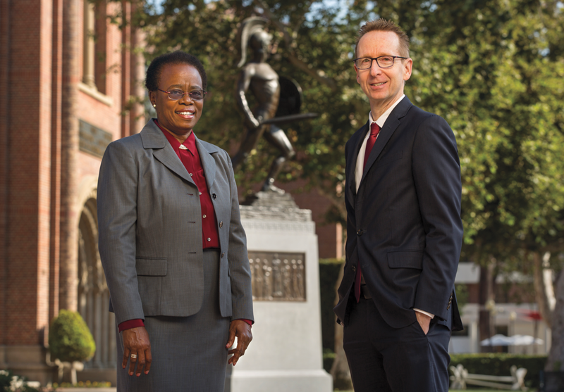Wanda Austin USC president with Provost Michael Quick