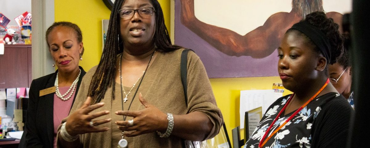 Sexual violence prevention at USC: Brenda Ingram speaks during Welcome Week